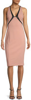 Narciso Rodriguez Sequin-Embroidered Silk Sheath Dress