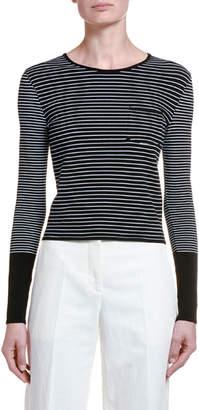 Giorgio Armani Colorblocked Striped Sweater