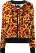 Versace Baroque leopard print hoodie