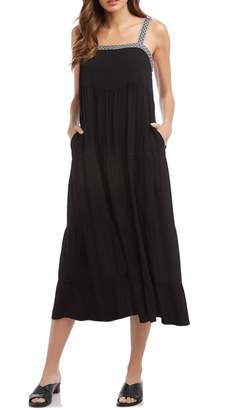 Fifteen-Twenty Braid Trim Square Neck Dress