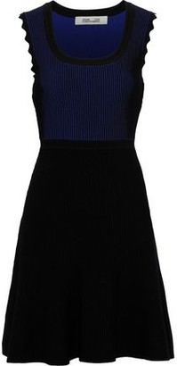 Diane von Furstenberg Adi Flared Ribbed-knit Mini Dress