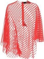 Velvet Striped Asymmetric Top