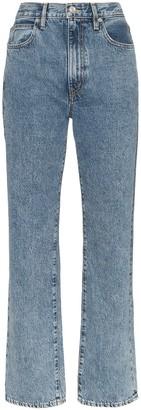 SLVRLAKE High-Waisted Straight Leg Jeans