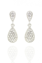 Quiz Silver Diamante Teardrop Earrings