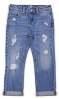 7 For All Mankind Girl's Skinny Crop & Roll Jeans
