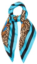 Diane von Furstenberg Belmont Stripe-print silk scarf