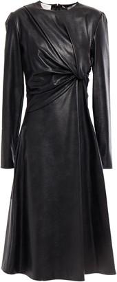 Stella McCartney Twist-front Faux Textured-leather Dress