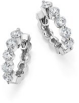 KC Designs Diamond Five Stone Hoop Earrings in 14K White Gold, .70 ct. t.w.