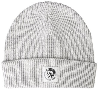 Diesel Mohawk Patch Ribbed Beanie