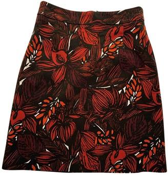 Jigsaw Red Cotton Skirt for Women