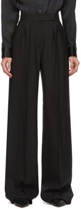 Max Mara Black Silk and Mohair Galea Trousers