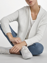 White + Warren Cotton Chainette Cardigan