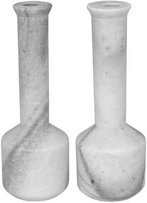 Noir Markos Set Of 2 Decorative Candle Holders