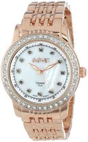 August Steiner Women's AS8045RG Diamond and Crystal Swiss Quartz Bracelet Watch