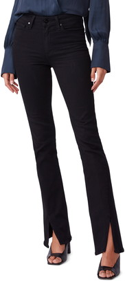 Paige Transcend Manhattan High Waist Twist Inseam Bootcut Jeans