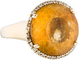 Effy Jewelry 14K Citrine & Diamond Cocktail Ring