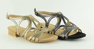 The Divine Factory Women's Lamiss Ankle Strap Sandals