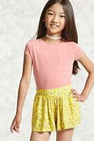 FOREVER 21 girls Girls Floral Shorts (Kids)