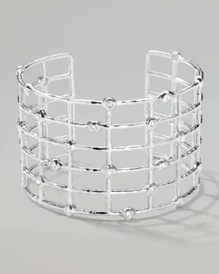 Ippolita Sterling Silver #2 Cuff with Diamonds