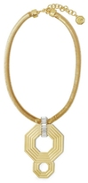 Vince Camuto Louise et Cie Octagon Door Knocker Necklace