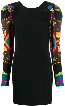 Versace Scarf Sleeve Dress