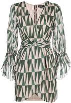PatBO Geo-print mini dress