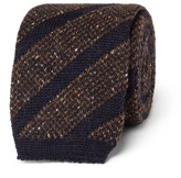Altea 6cm Knitted Wool-blend Tie - Brown
