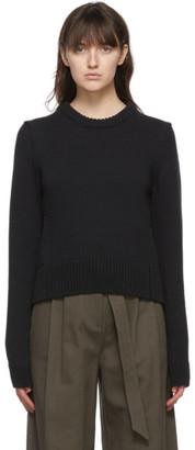 Tibi Black Yarn Shrunken Sweater