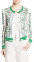 Tory Burch Women's Greenfield Print Cardigan