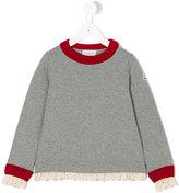 Moncler contrast trim sweatshirt - kids - Cotton/Spandex/Elastane - 4 yrs