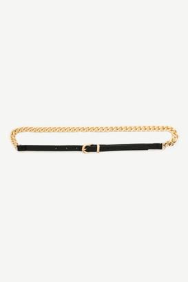 Ardene Faux Leather Chain Belt