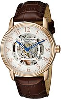 Stuhrling Original Legacy 970 Men's Quartz Watch with Silver Dial Analogue Display and Brown Leather Strap 970.03