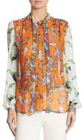 Tory Burch Kia Silk Tie-Neck Blouse