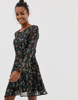 Brave Soul floral printed skater dress