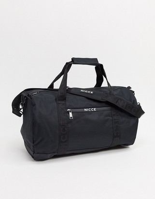 Nicce barrel holdall bag in black