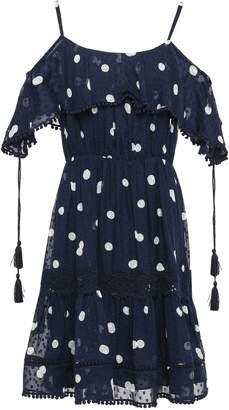 Kate Spade Cold-shoulder Printed Fil Coupe Silk Dress