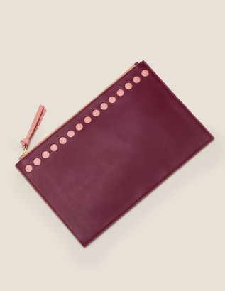 Large Leather Keepsake Pouch