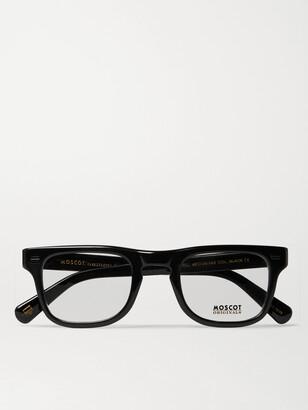 MOSCOT Kavell Square-Frame Acetate Optical Glasses - Men - Black