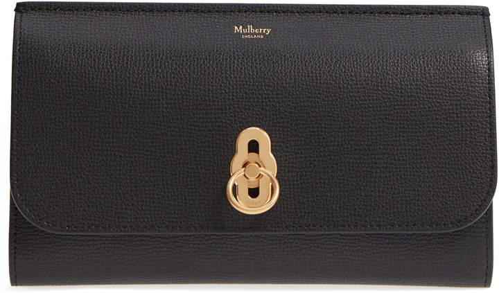 Mulberry Amberley Calfskin Leather Clutch