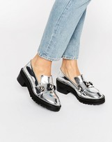 Kat Maconie Salma Silver Chunky Flat Shoes