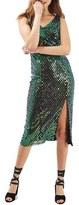 Topshop Women's Halographic Sequin Midi Dress