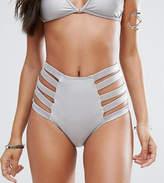 And Co Satin Rib Brazilian Bikini Bottom