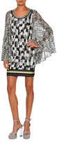 Missoni Butterfly-Sleeve Jacquard Mini Dress, Black/Multi