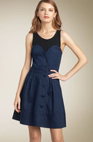 MARC BY MARC JACOBS 'Sabrina' Sateen Combo Dress