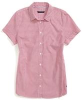 Tommy Hilfiger Final Sale- Yale Stripe Short Sleeve Shirt