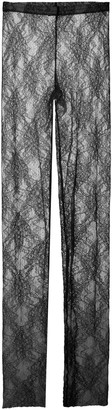 RED Valentino Women's Stretch-Lace Leggings - Black/neutral - Moda Operandi