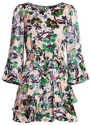 Saloni Marissa Ruffle Mini Dress