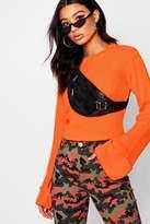 boohoo Hannah Wide Maxi Sleeve Rib Knit Jumper