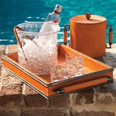 The Well Appointed House Global Views Double Handled Serving Tray in Orange