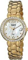 Burgi Women's BUR084YG Analog Display Swiss Quartz Gold Watch